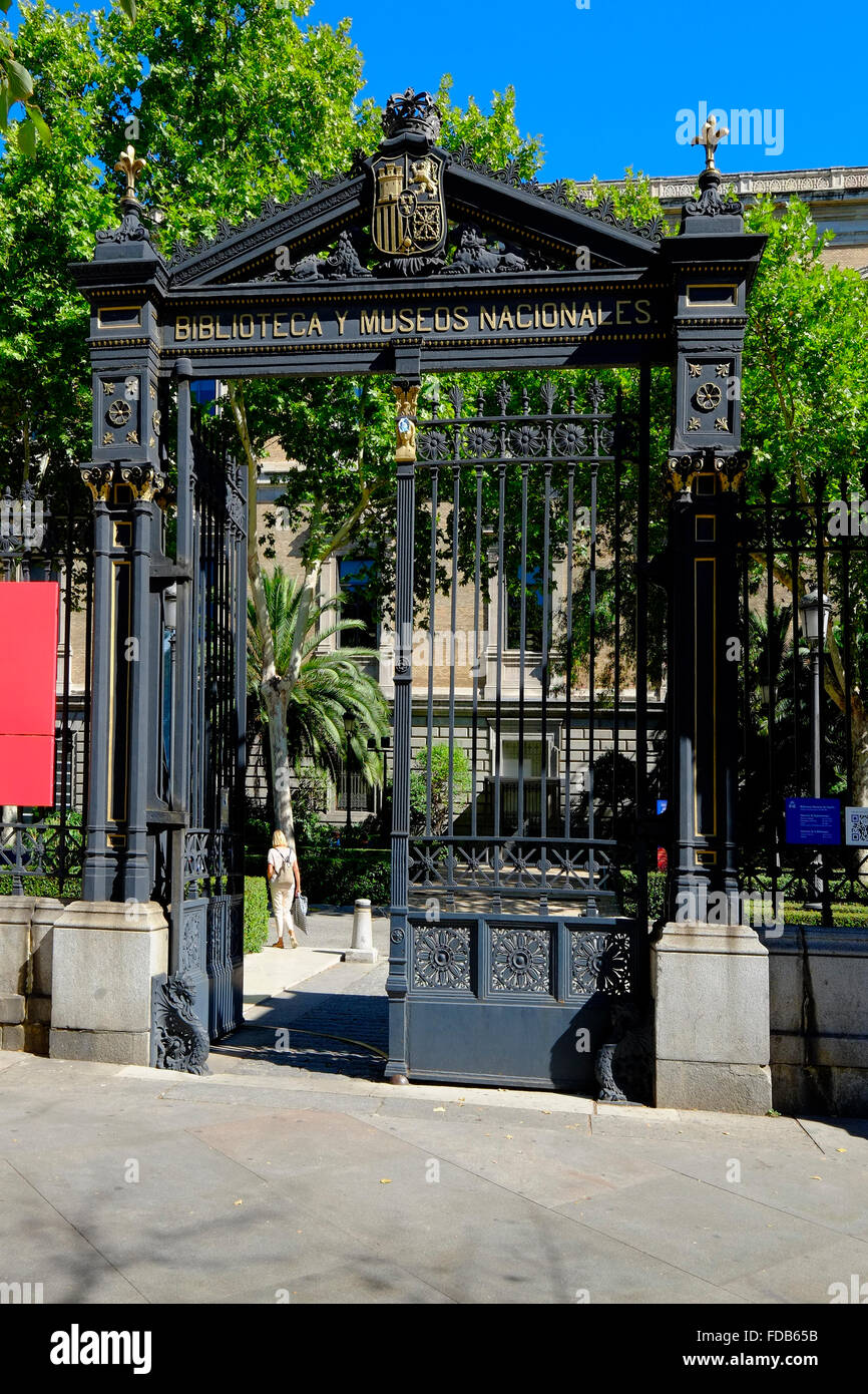 National Library and Museum  Madrid Spain ES Stock Photo