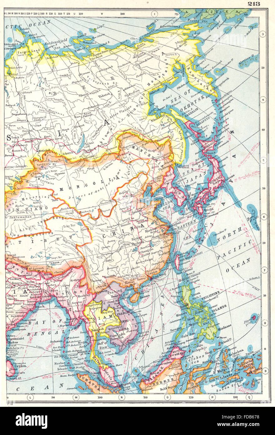 Map china philippines stock photos map china philippines stock east asia china philippines japan korea siam french indochina malaya 1920 map stock gumiabroncs Choice Image
