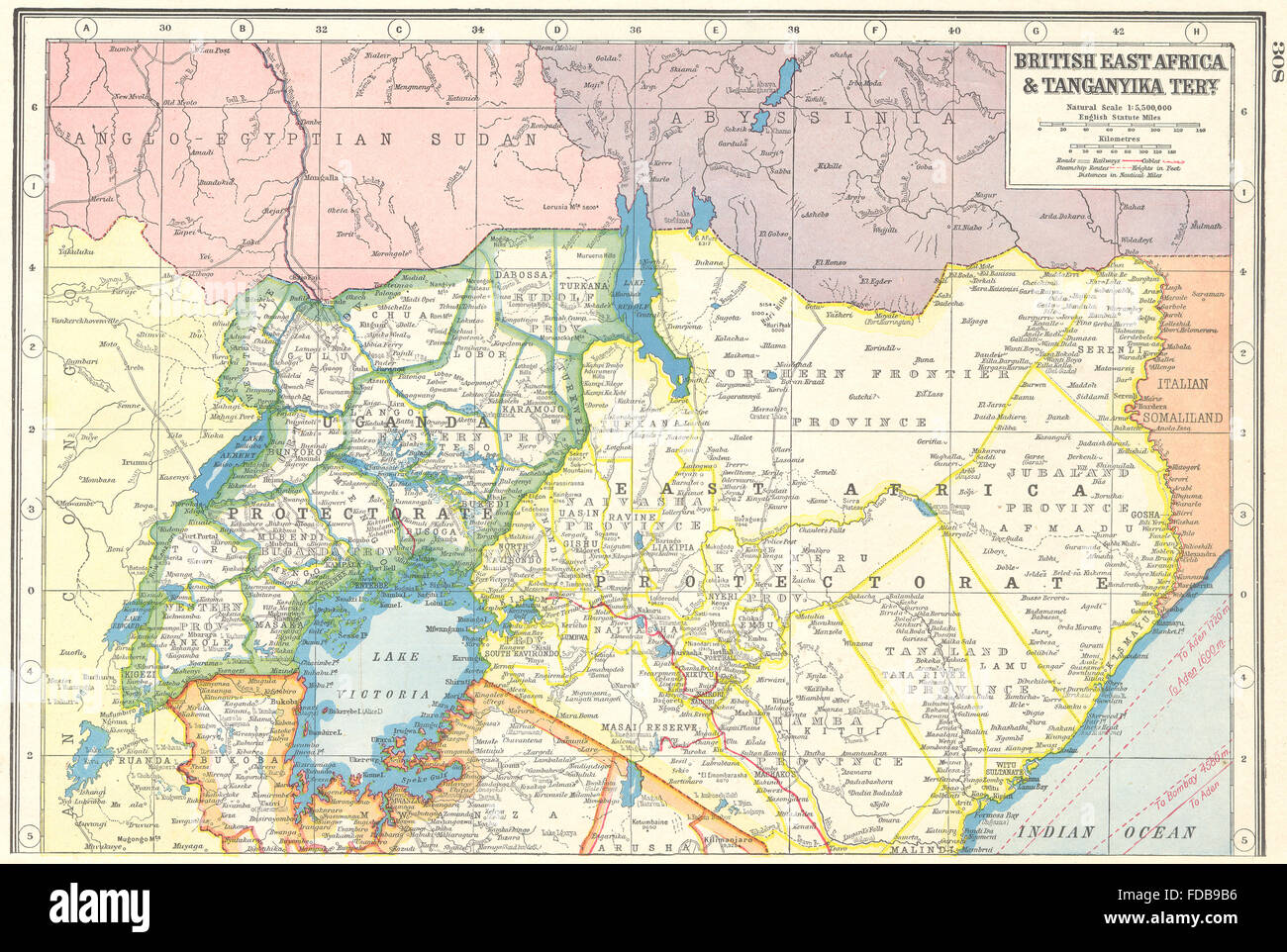 uganda on africa map