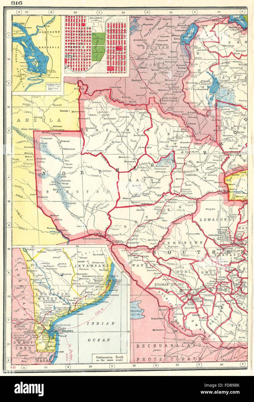 Rhodesia West Zimbabwe Zambia Nyasaland Victoria Falls