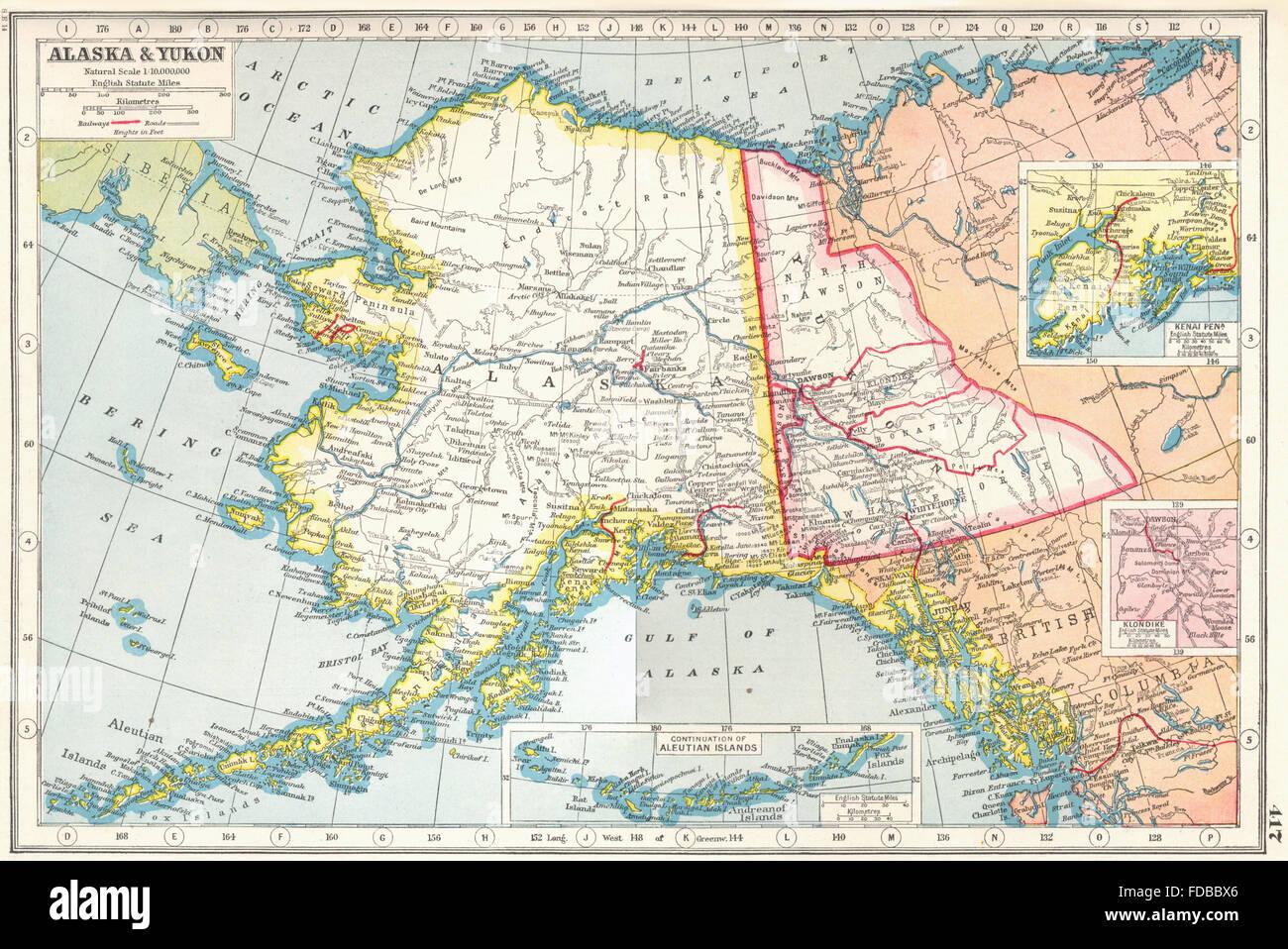 Alaska yukon inset kenai peninsula klondike harmsworth 1920 alaska yukon inset kenai peninsula klondike harmsworth 1920 vintage map gumiabroncs Gallery