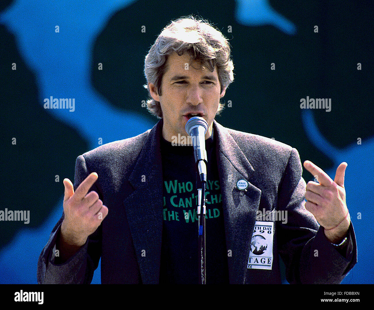 Washington, DC., USA, 22nd April, 1990 Richard Gere at Earth Day. Earth Day is an annual event, celebrated on April - Stock Image