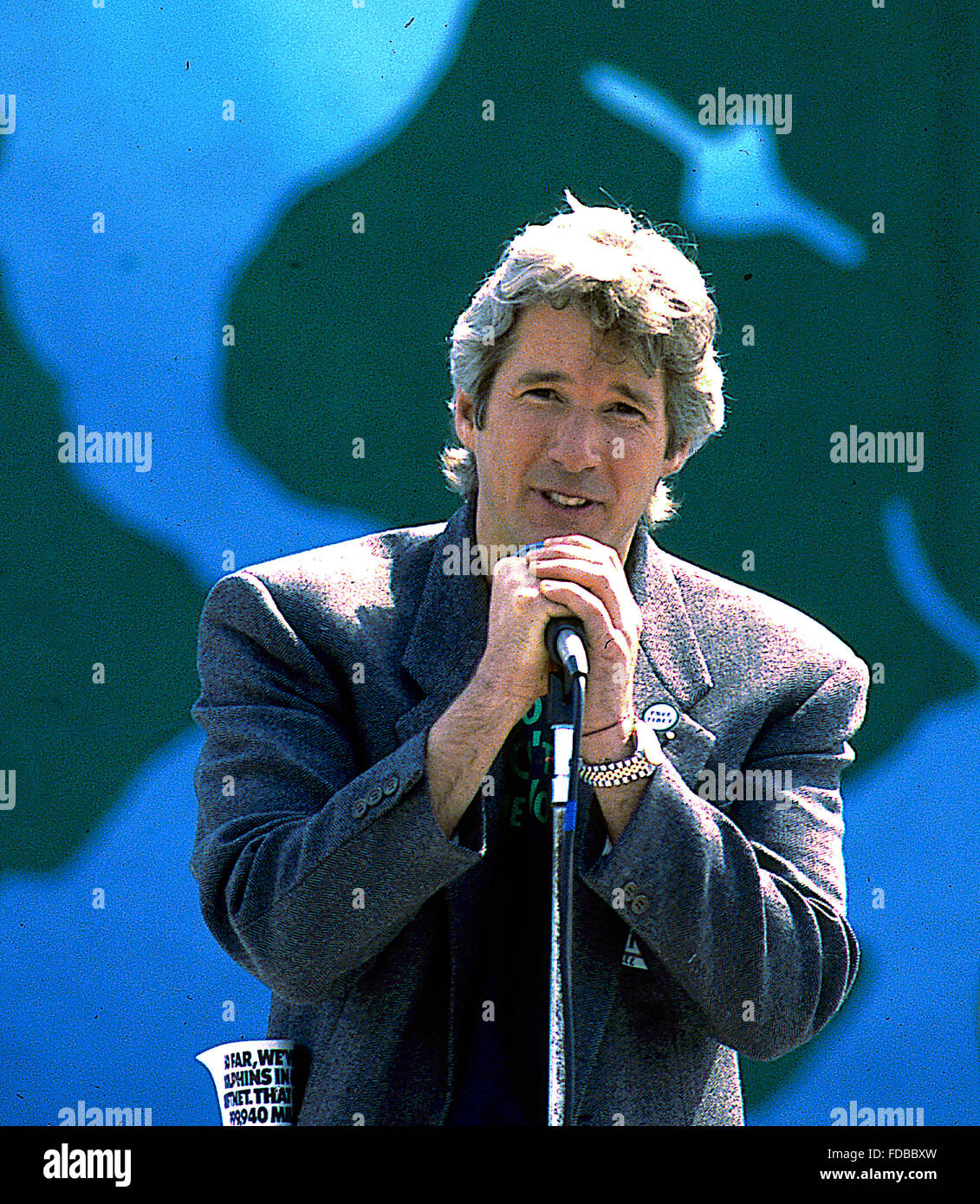 Washington, DC., USA, 22th April,  1990 Richard Gere at Earth Day. Earth Day is an annual event, celebrated on April - Stock Image