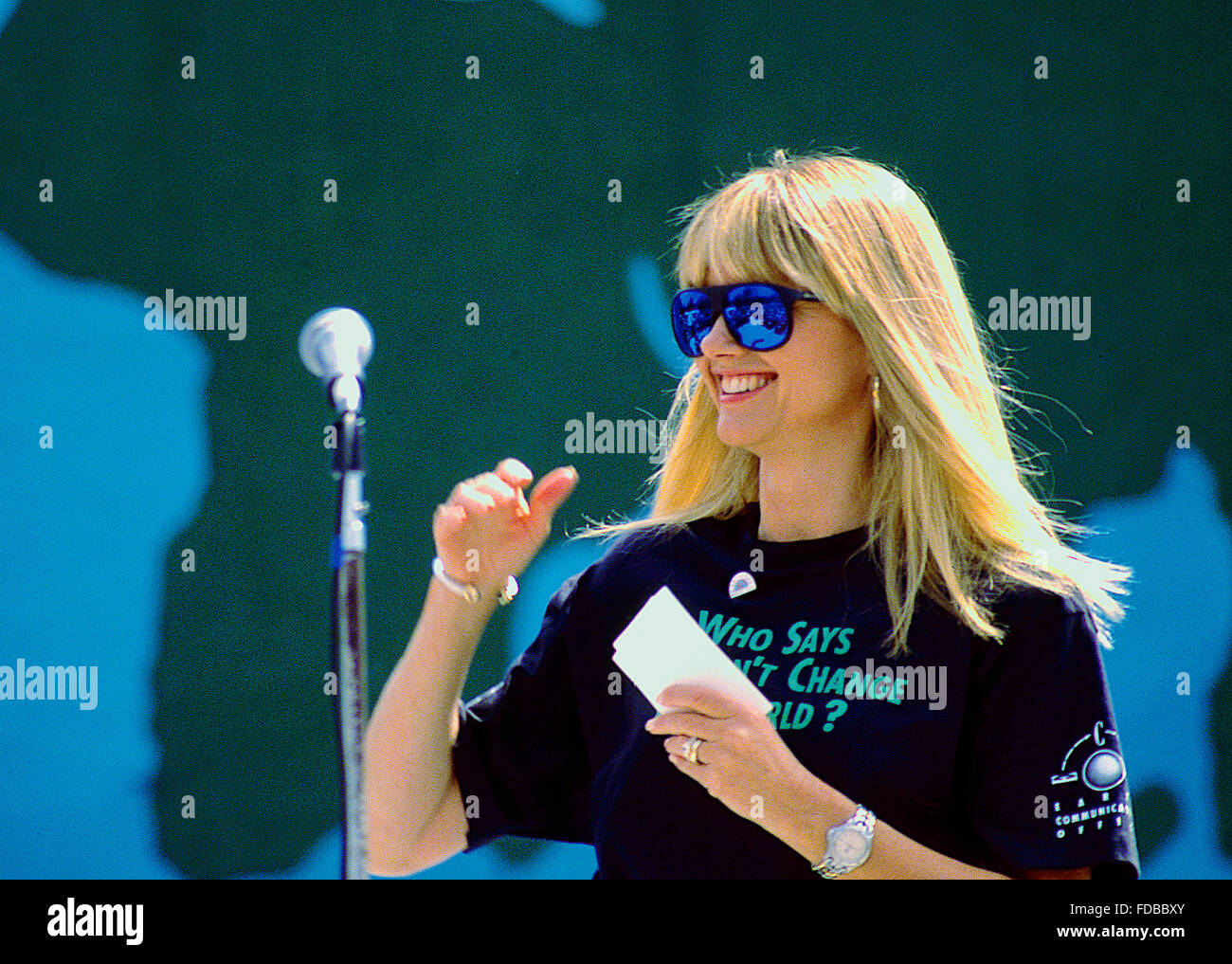 Washington, DC., USA, 22nd April, 1990 Olivia Newton-John at Earth Day. Earth Day is an annual event, celebrated - Stock Image
