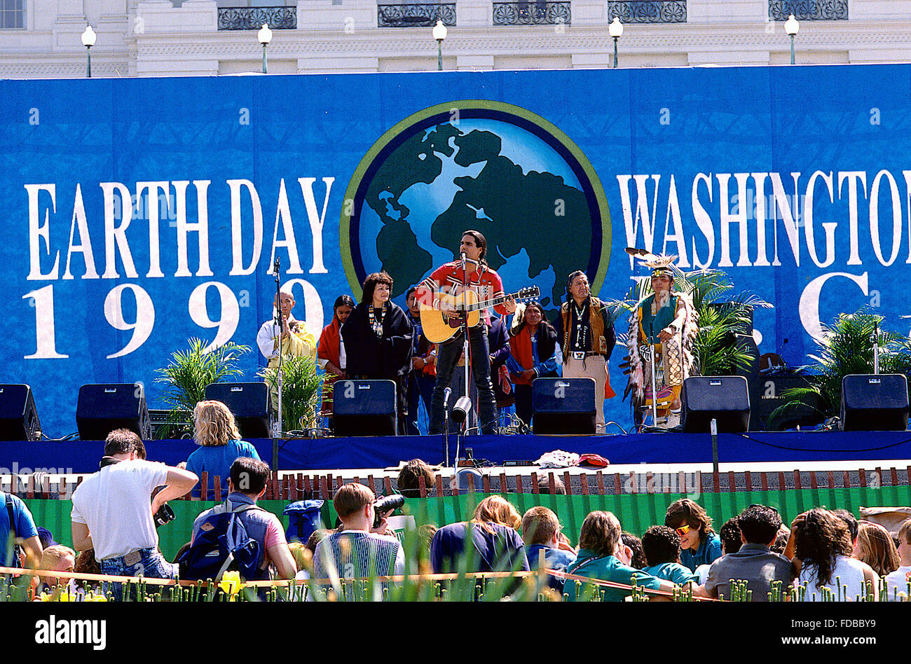 Washington, DC., USA, 22nd  April,1990 Earth Day on the west front of the US Capitol. Earth Day is an annual event, - Stock Image