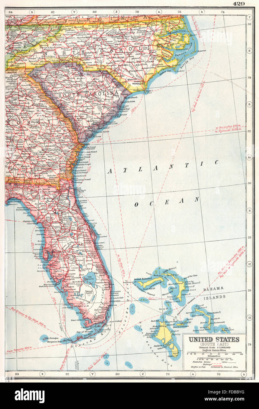 Usa South East Florida North Carolina South Carolina Georgia 1920