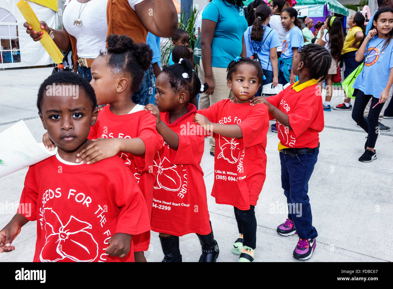 Miami Florida Book Fair International Miami Dade College Wolfson Campus literary festival annual event daycare student Stock Photo