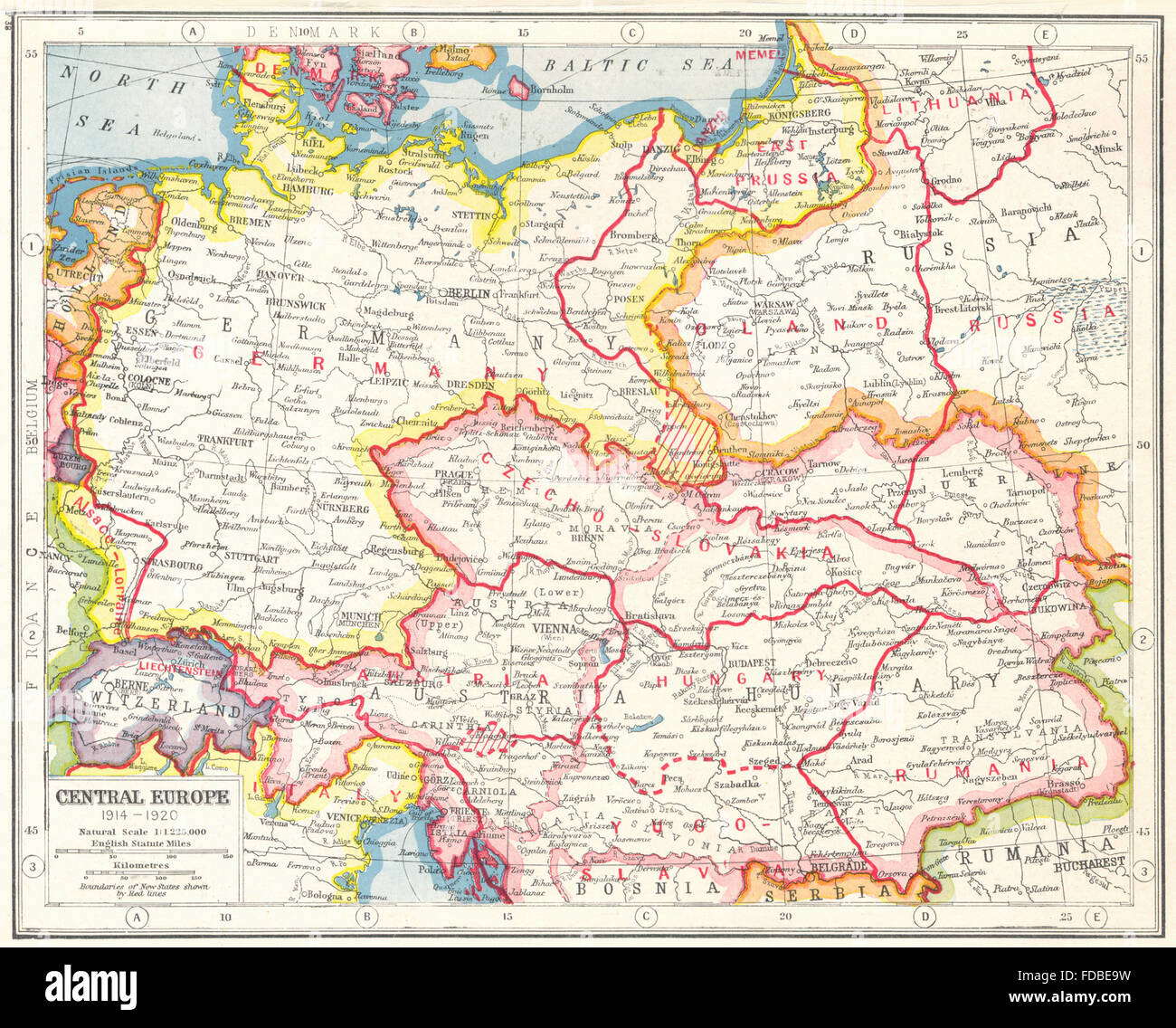 Europe 1914 Map Stock Photos & Europe 1914 Map Stock Images ...