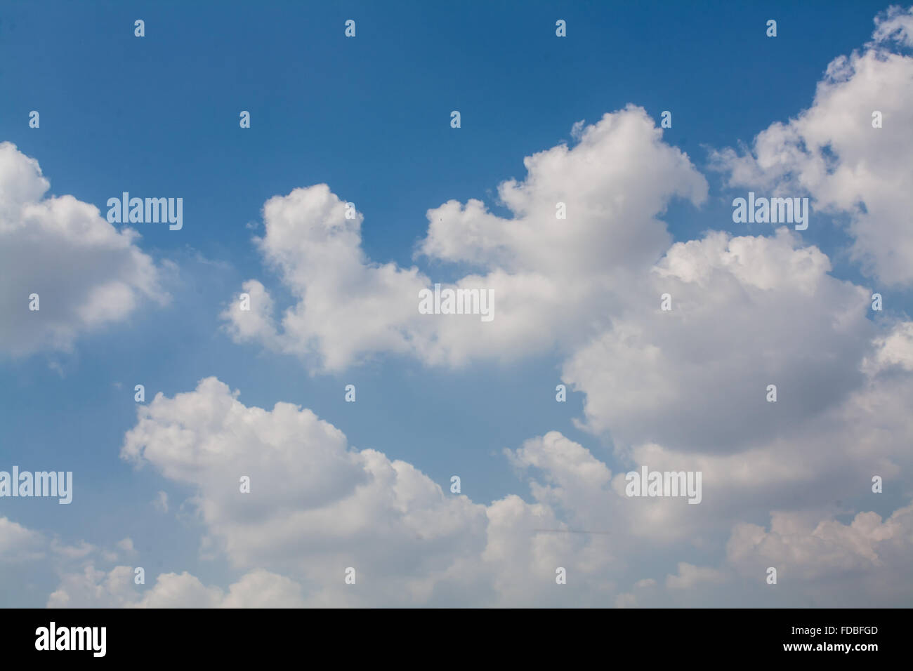 beautiful blue sky with white clouds wallpaper stock photo: 94296061