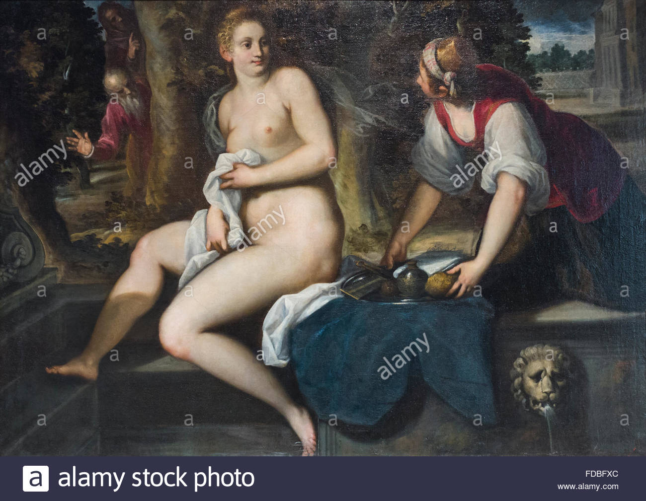 Susanna and the elders, Jacopo Negretti aka Palma the younger - Stock Image