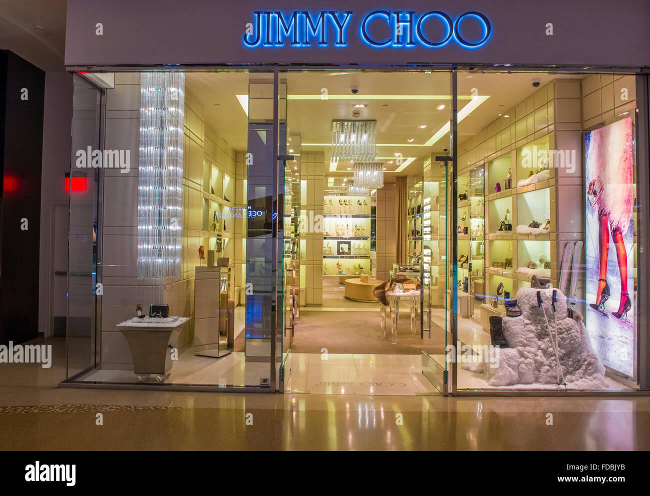 3a6e64d0d2e Exterior of a Jimmy Choo store in Las Vegas strip. - Stock Image