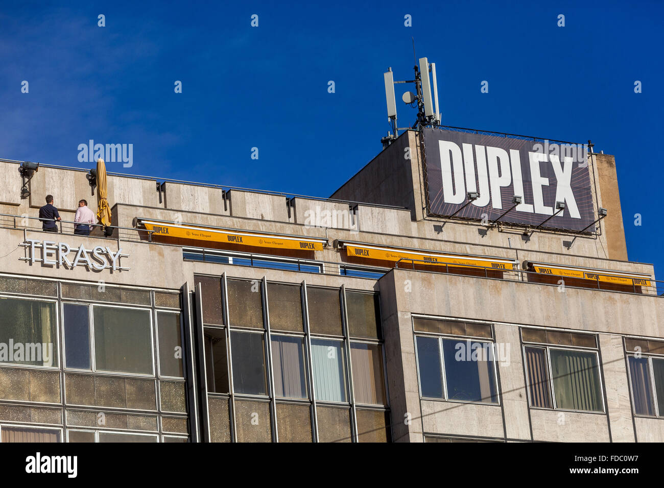 Duplex Club, Wenceslas Square Prague Czech Republic - Stock Image