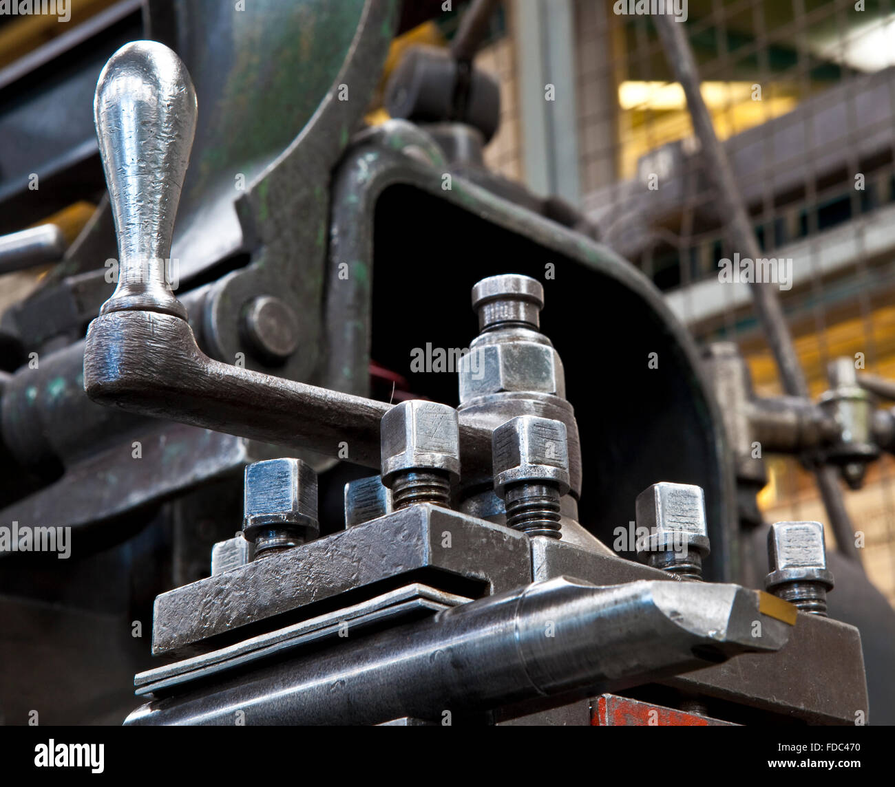Old Metalwork Lathe - Stock Image