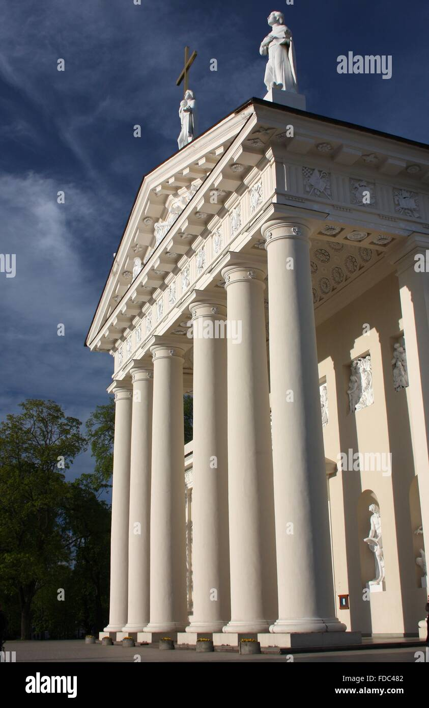 St. Stanislaus Cathedral in Vilnius, Lithuania - Stock Image