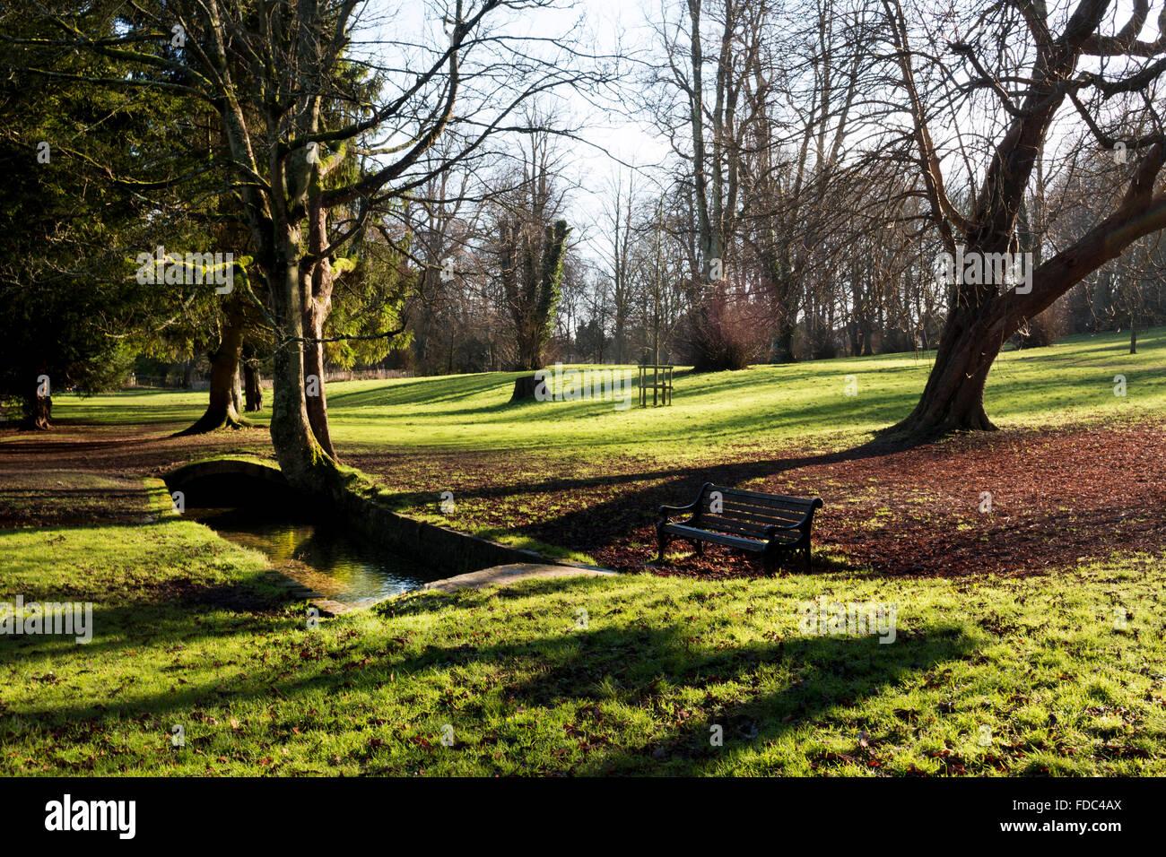 Kearsney Abbey parks. - Stock Image