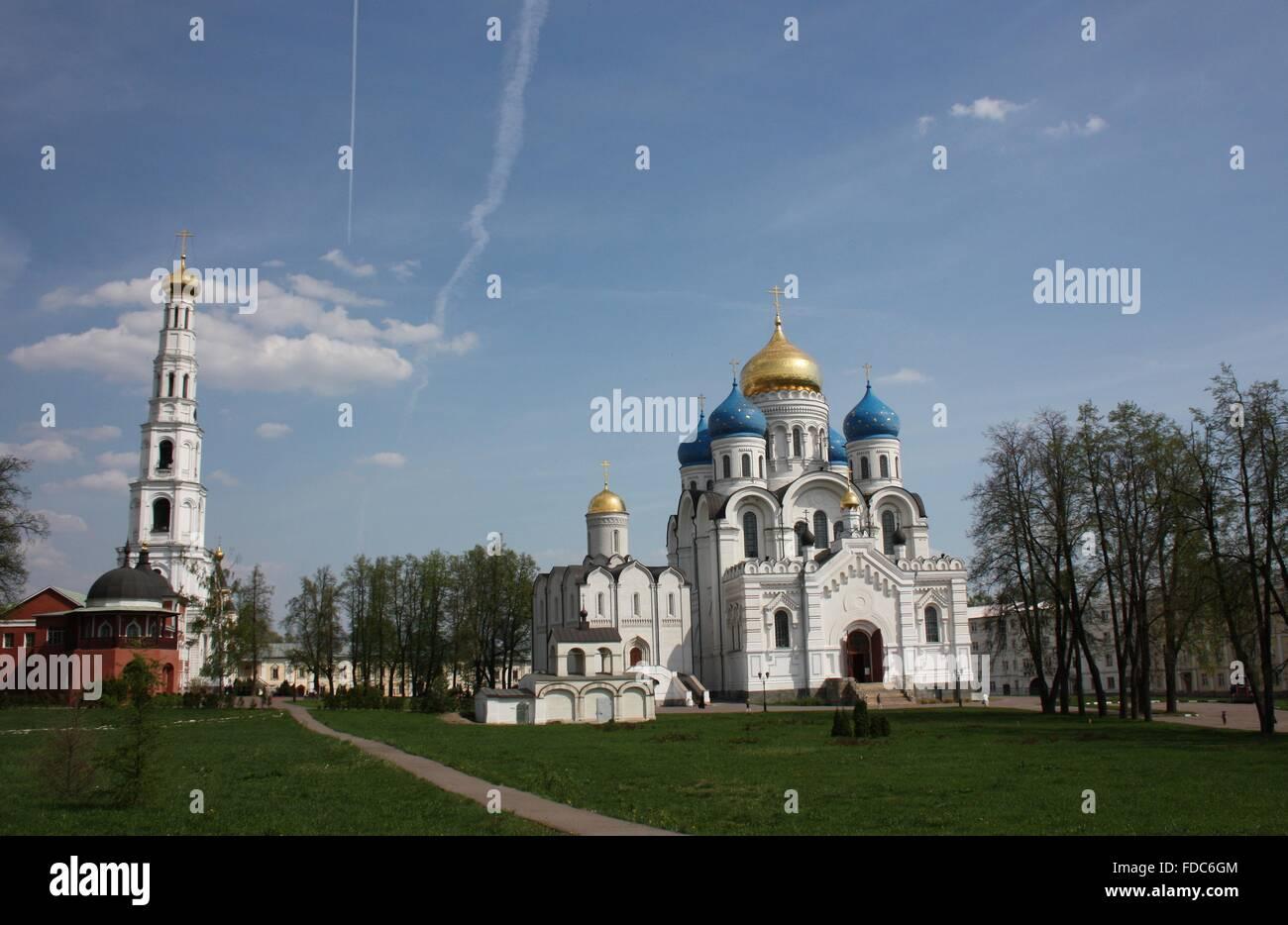 Panorama of St. Nicholas Ugreshsky monastery. Russia, Moscow region, Dzerzhinsky - Stock Image