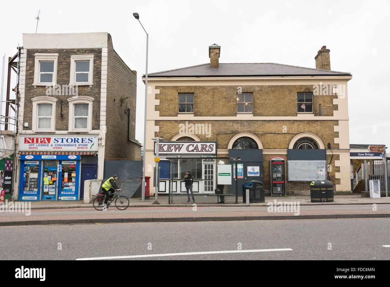 Kew Bridge Station in Hounslow, SW London, UK - Stock Image