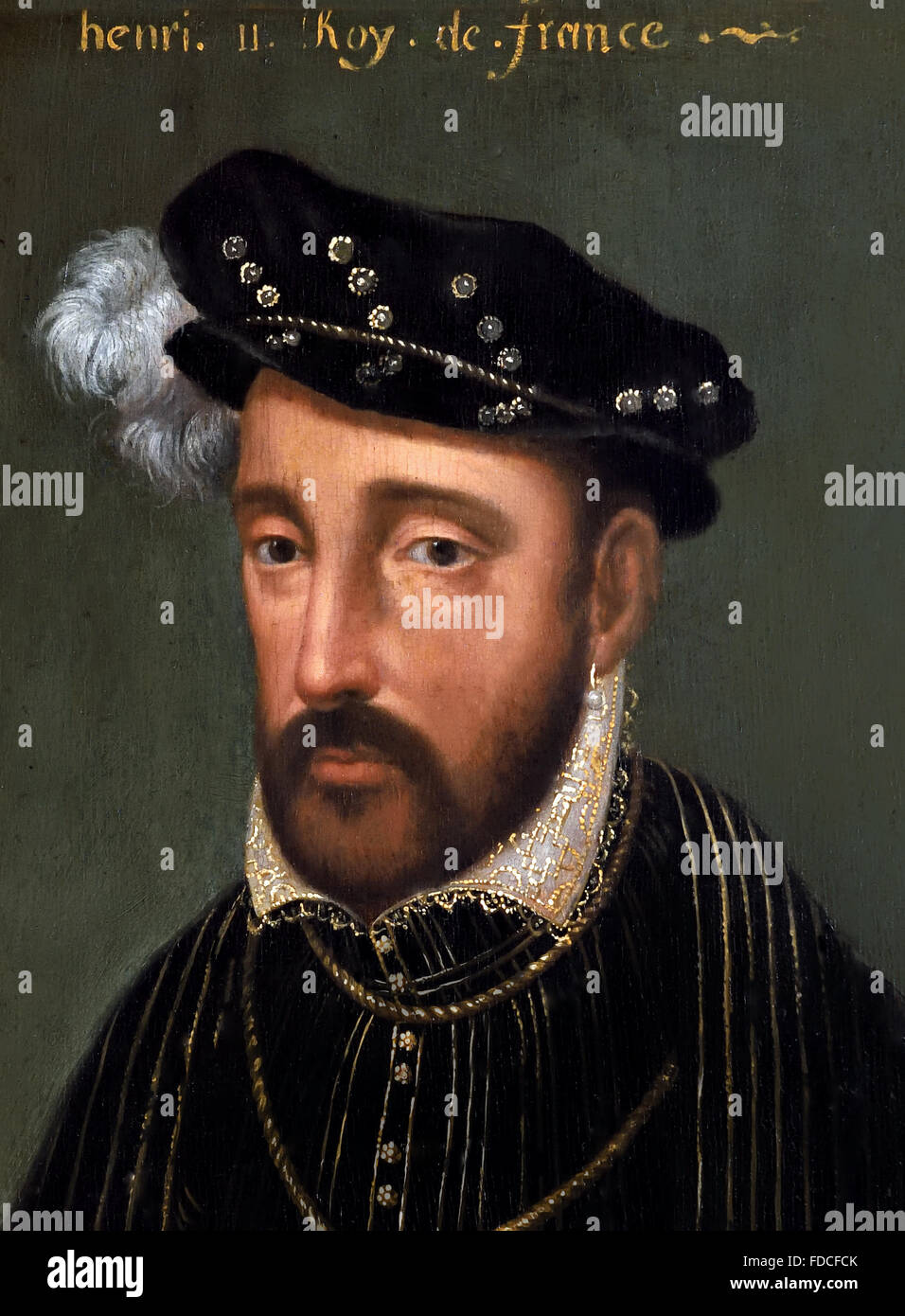 Portrait  of Henri II  - Henry II King of France French Stock Photo