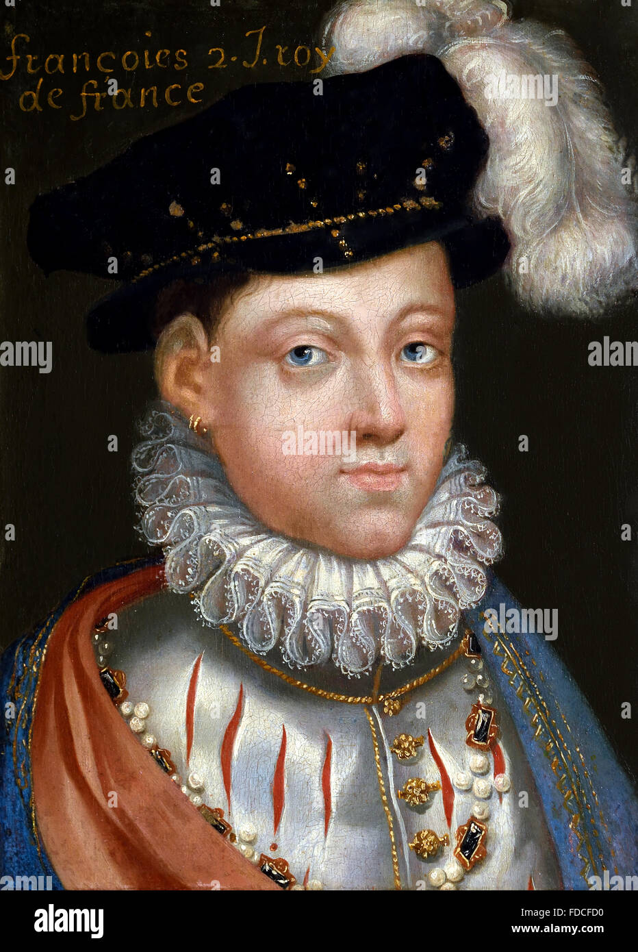 Portrait of François II - Francis II 1544 – 1560 King of France French Stock Photo