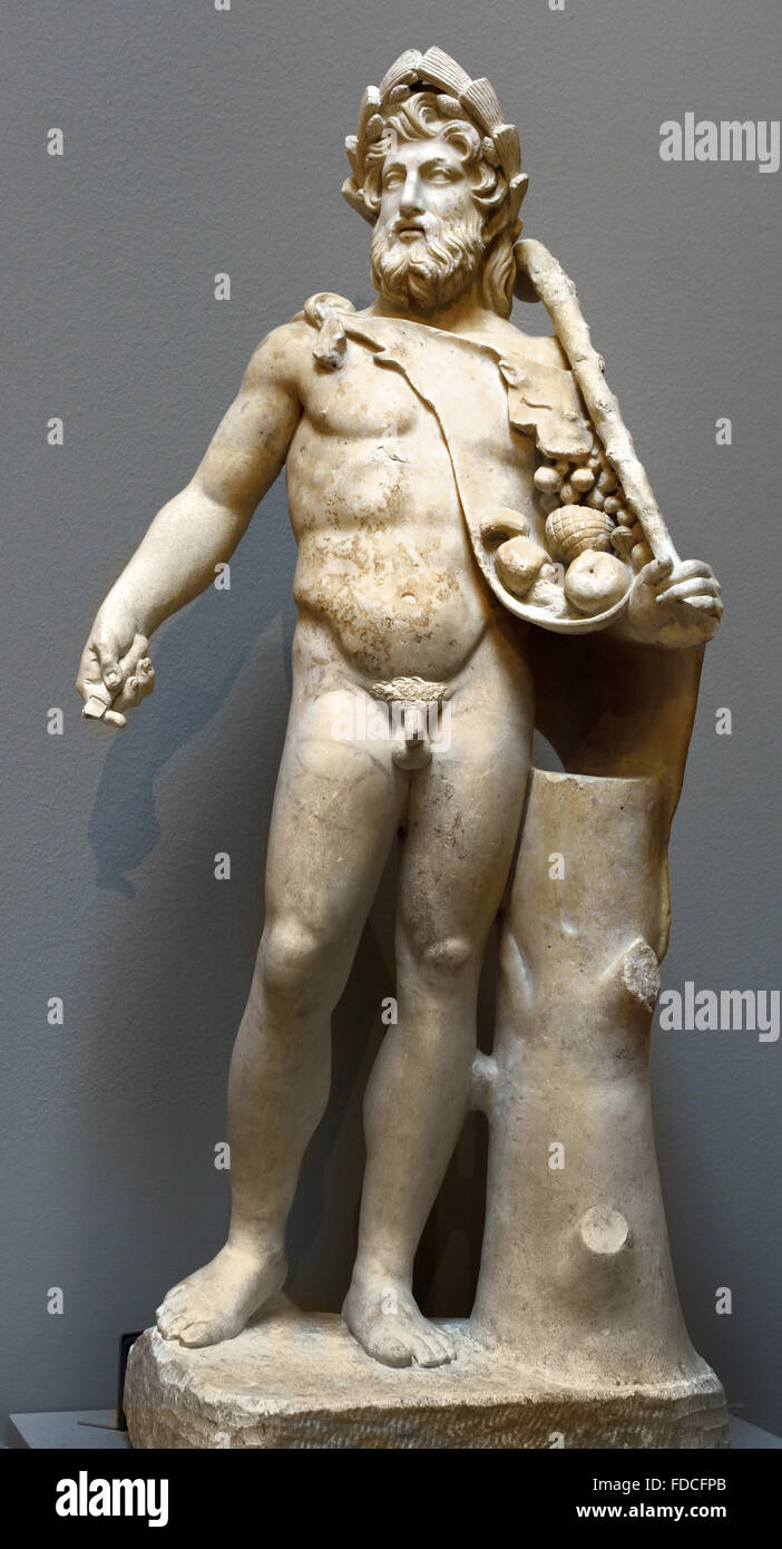 Vertumne is the Roman god of gardens and orchards 1th century BC Rome  Italy Italian - Stock Image