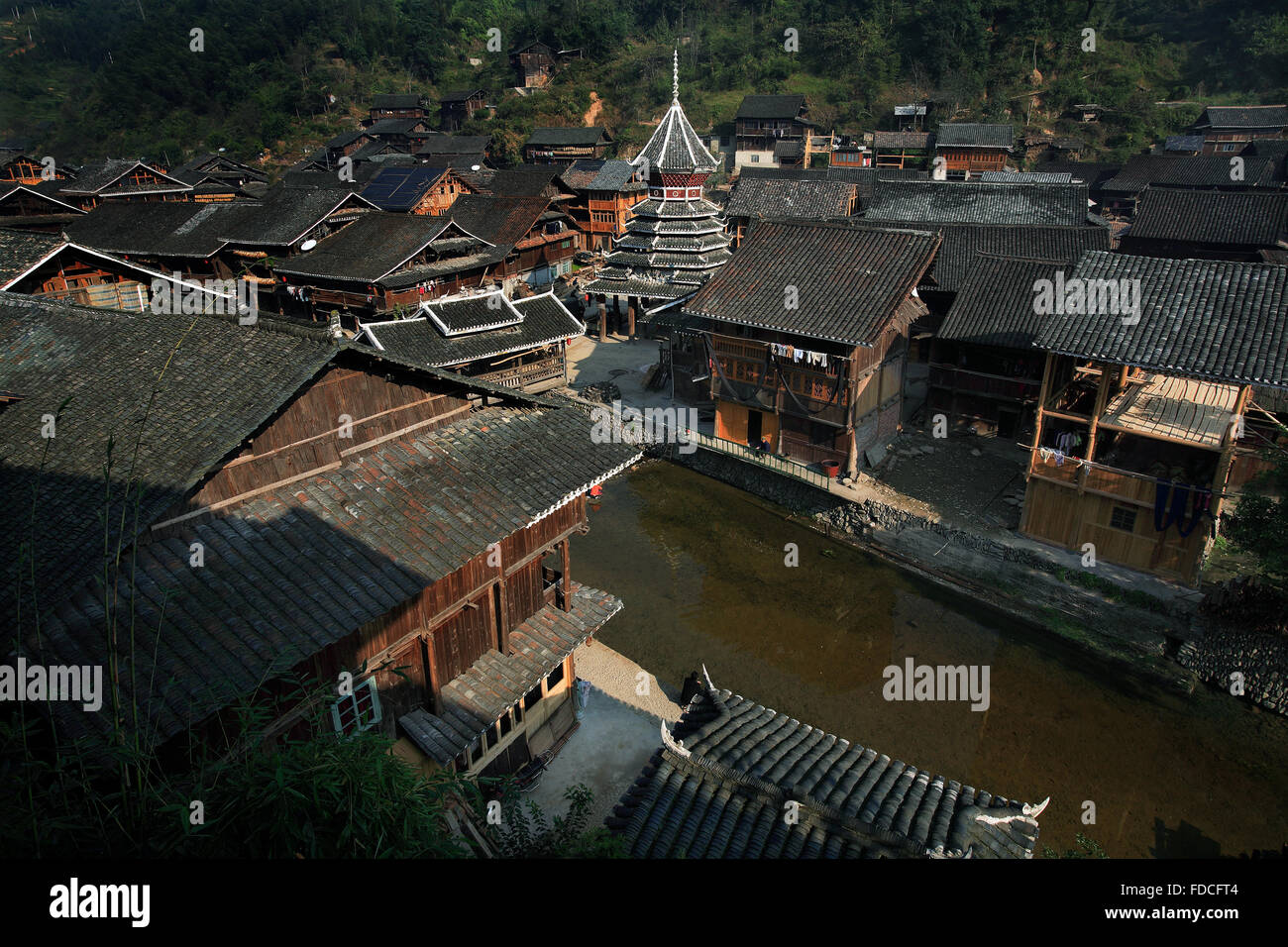 Guizhou Province Liping County Zhaoxing ancient village Stock Photo