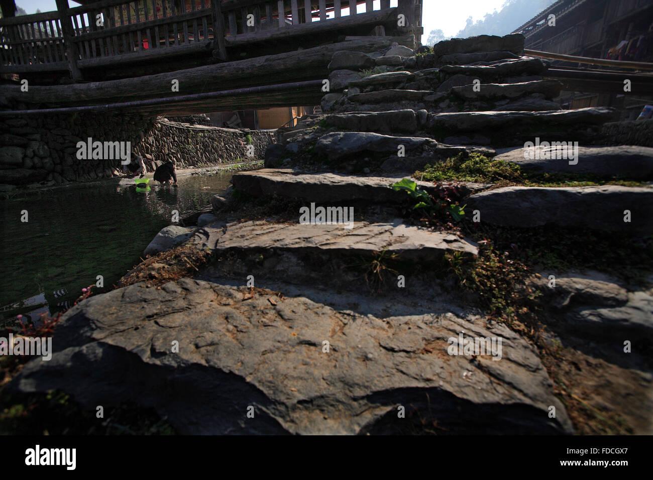 Guizhou Province Liping County Zhaoxing ancient village Stock Photo