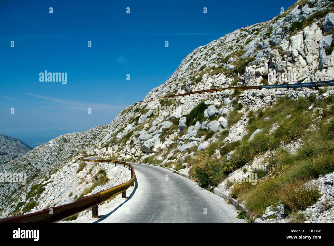 Kroatien, Dalmatien, Makarska, Naturpark Biokovo, Fahrt auf den dritthöchsten Berg Kroatiens, den Sveti Jure - Stock Image