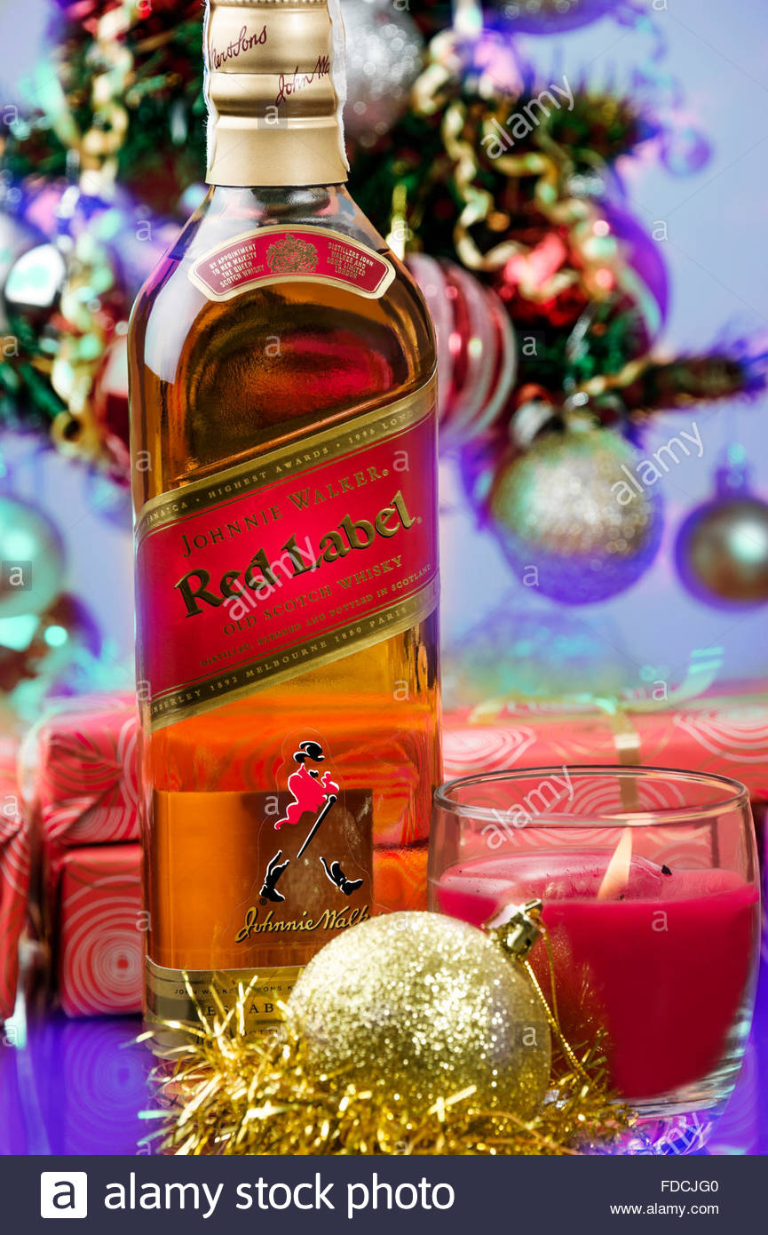 Kostinbrod Citybulgaria January 11 2015 Bottle Of Johnnie Stock