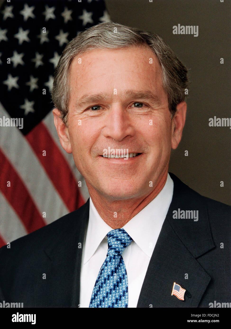 George W Bush. Portrait of US President George W Bush, c.1989 Stock Photo