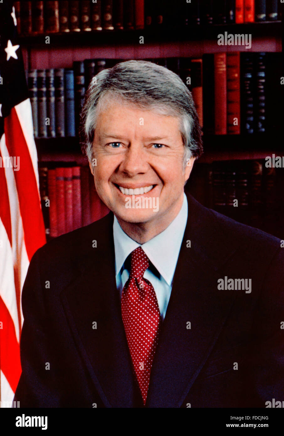 Official White House Portraits Stock Photos Minimal Carter Pleated Shirt Putih S Jimmy 39th President Of The Usa Photo January 1977