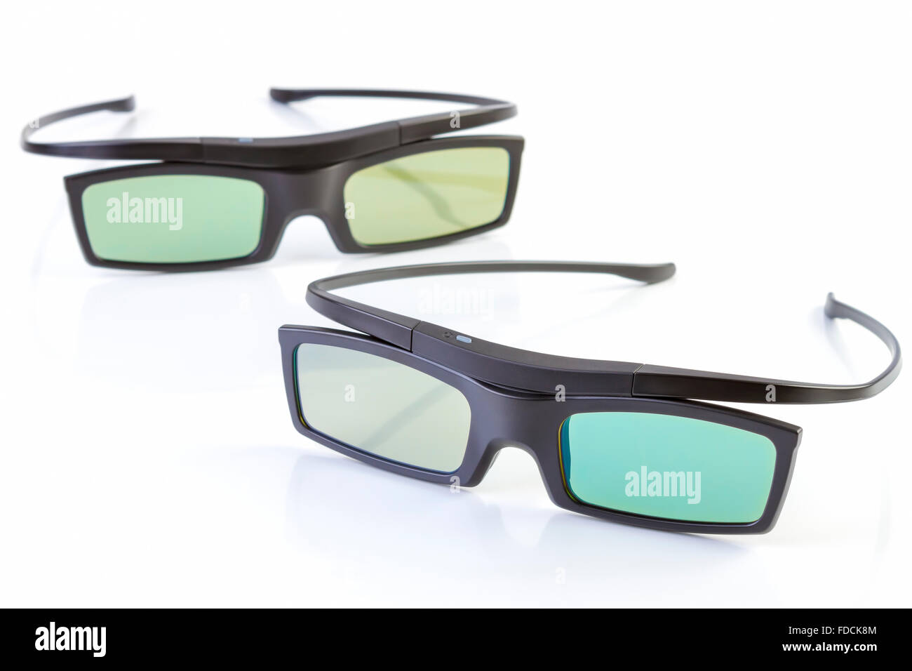 3d glasses isolated on white background - Stock Image