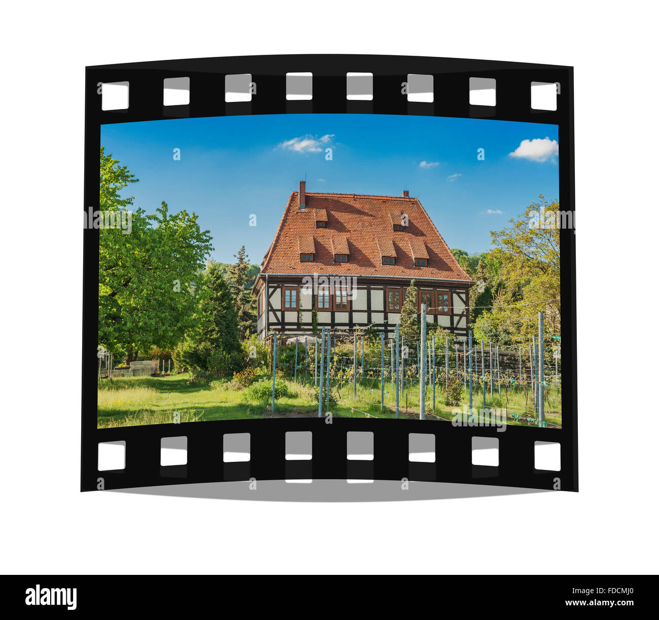 Breitig House is a listed winegrower's House, Radebeul near Dresden, administrative district Meissen, Saxony, - Stock Image