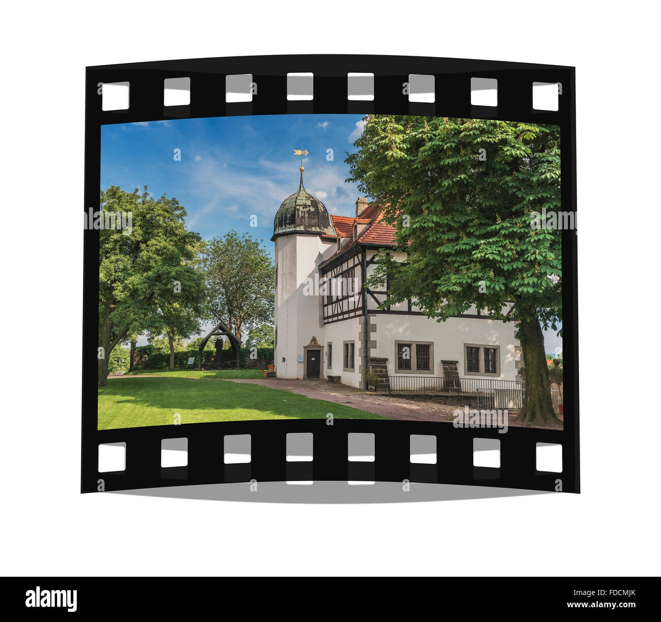 Summer residence Castle Hofloessnitz is a building in the wine-growing area in Radebeul near Dresden, Saxony, Germany, - Stock Image