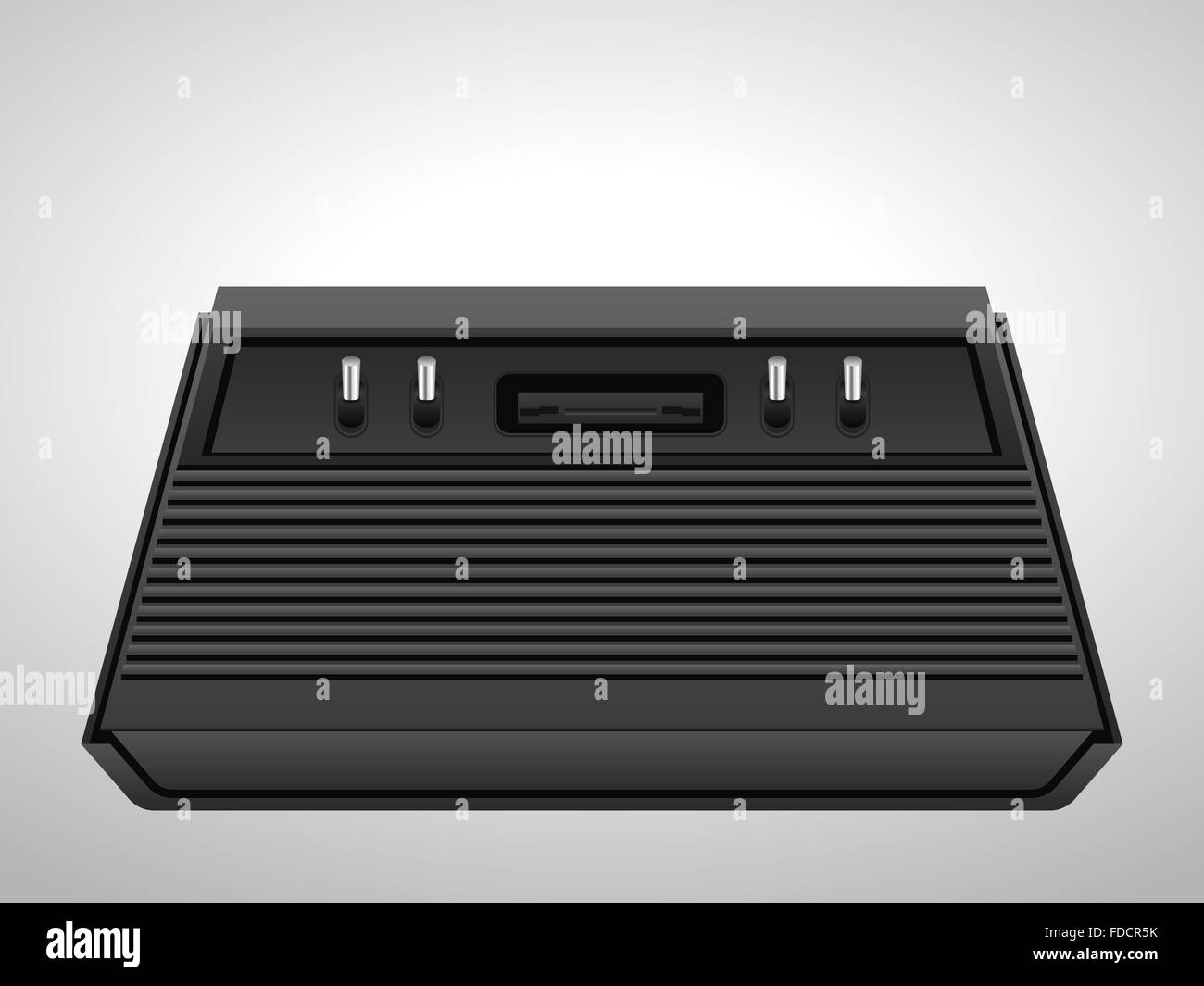 Retro console on a white background. - Stock Image
