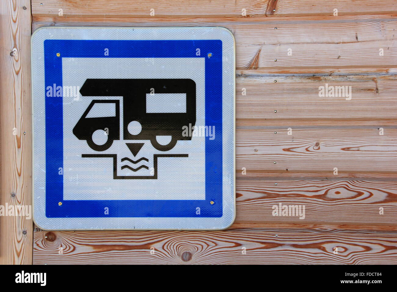 sign for a dumping station - Stock Image