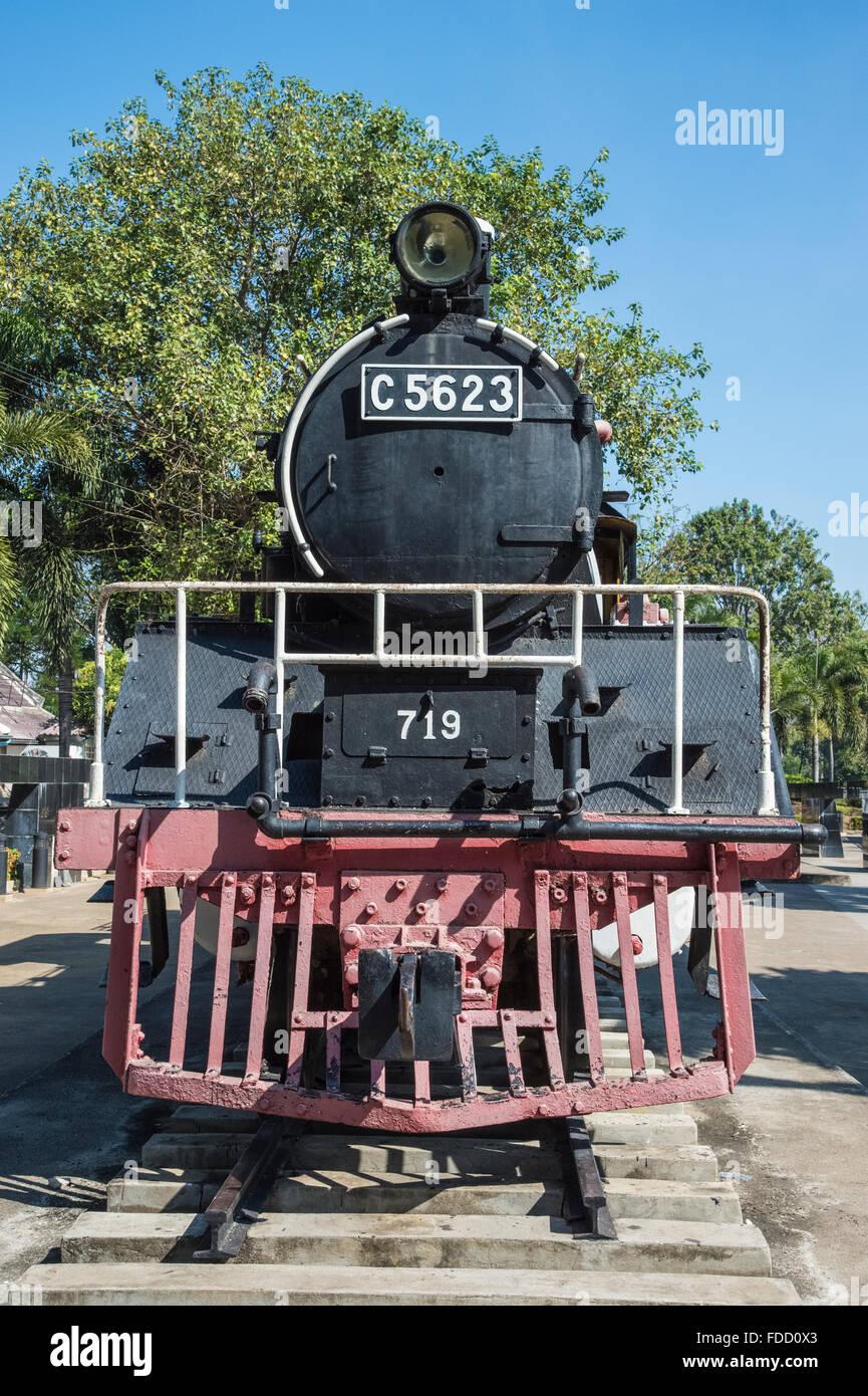 Siam Burma Death Railway Steam engine - Stock Image