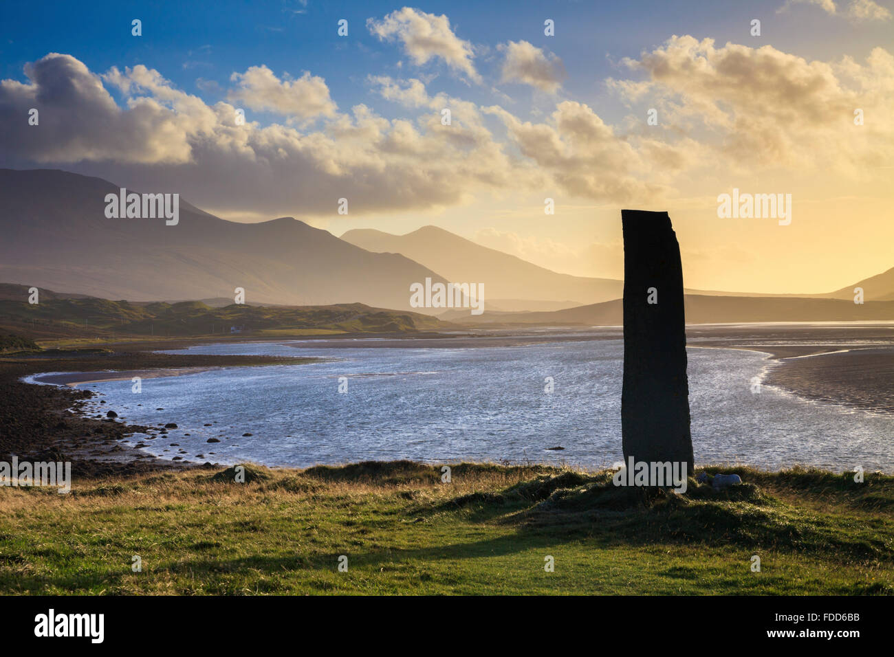 A Celtic Cross on the Kyle of Durness in North West Scotland - Stock Image