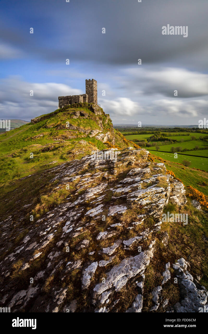 Brent Tor church in West Devon. - Stock Image
