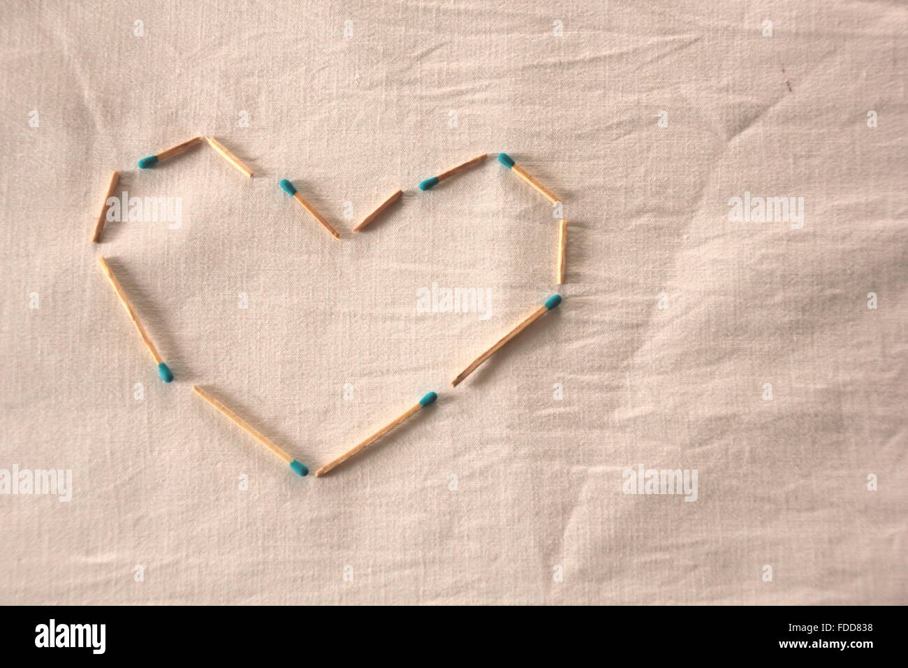 heart made of matches - Stock Image