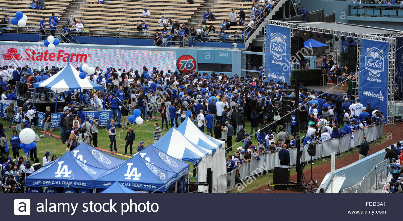 Los Angeles, California, USA. 30th Jan, 2016. The fourth annual offseason FanFest on Saturday, Jan. 30, 2016 in Stock Photo