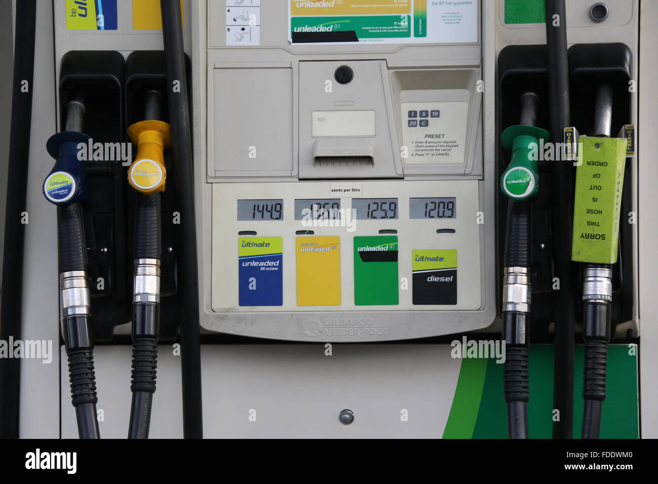 Petrol Pump At The Bp Service Station On Parramatta Road