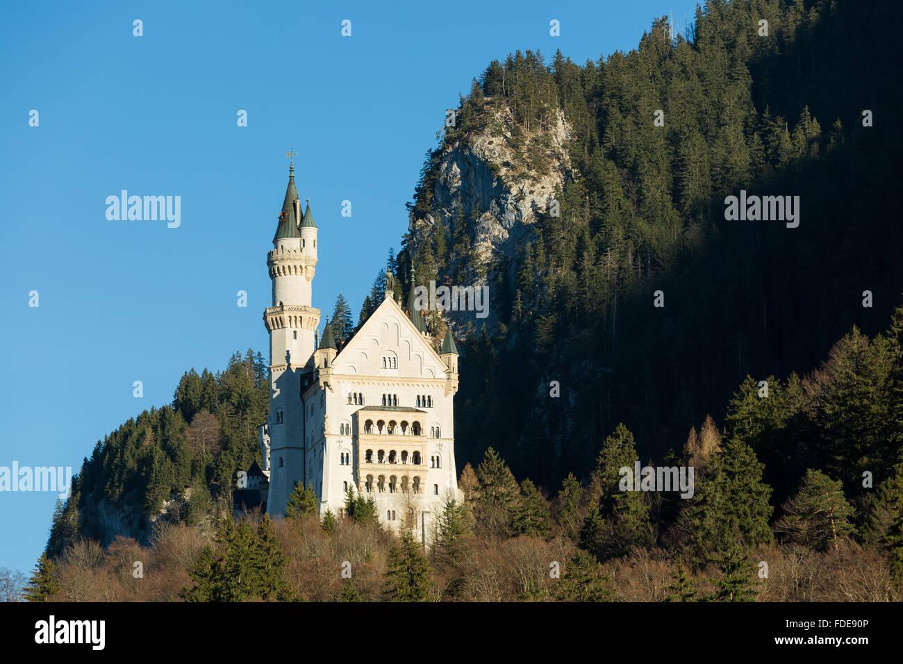 Castle Neuschwanstein near Füssen, Bavaria, Germany Stock Photo