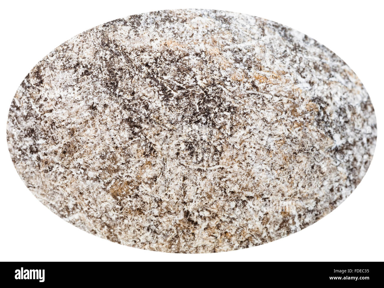 cabochon from anhydrite natural mineral gem stone isolated on white background - Stock Image
