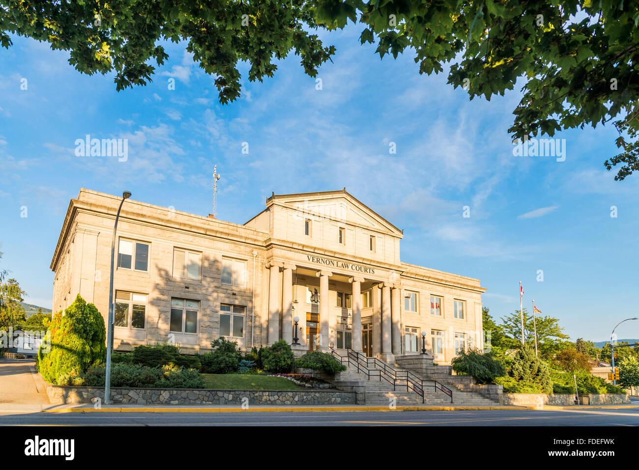 Law Courts,  Vernon, British Columbia, Canada - Stock Image