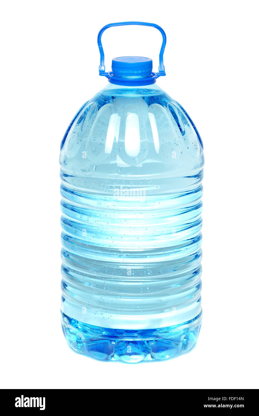 Bottle of water isolated on the white - Stock Image