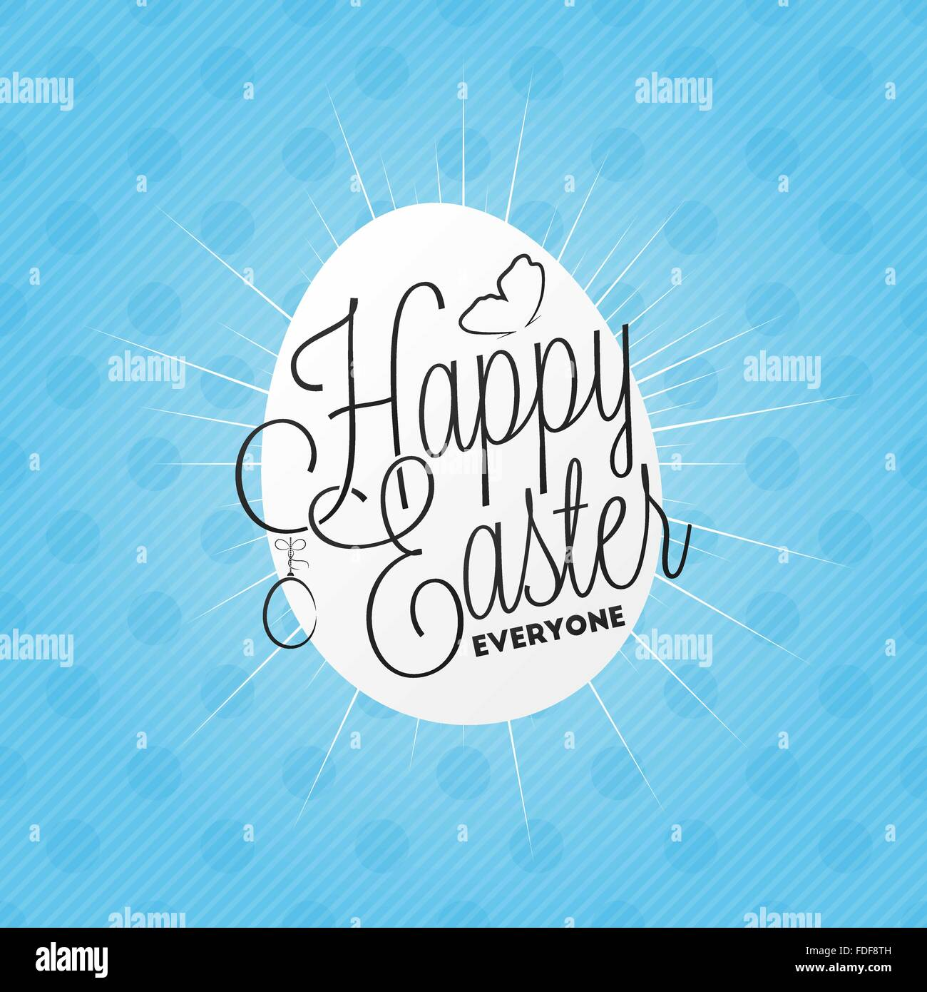 Happy easter everyone lettering for your design - Stock Image