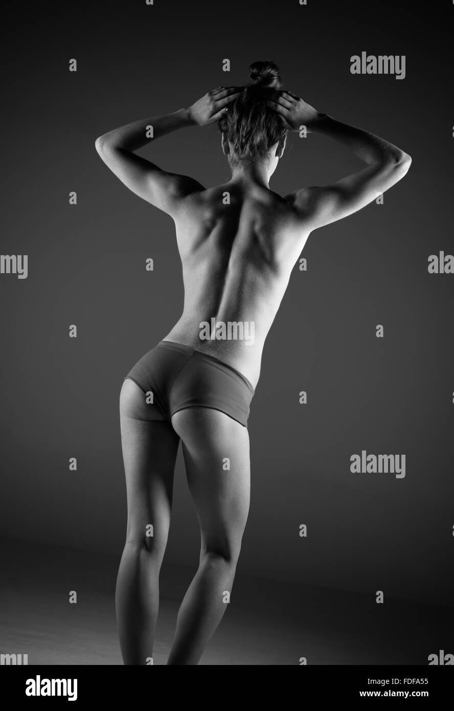 Toned thin woman - Stock Image