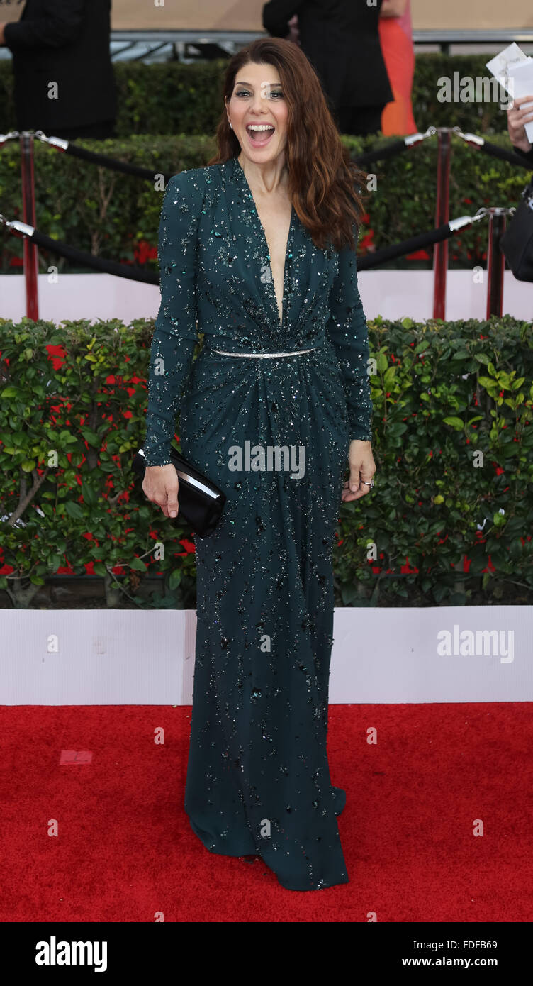 Actress Marisa Tomei attends the 22nd Annual Screen Actors Guild Awards, SAG Awards, at The Shrine Auditorium in - Stock Image