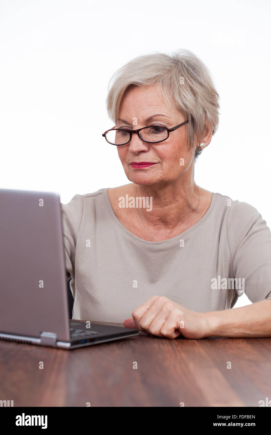 2b5c264b9c Old Senior Woman Surfing Internet Stock Photos   Old Senior Woman ...