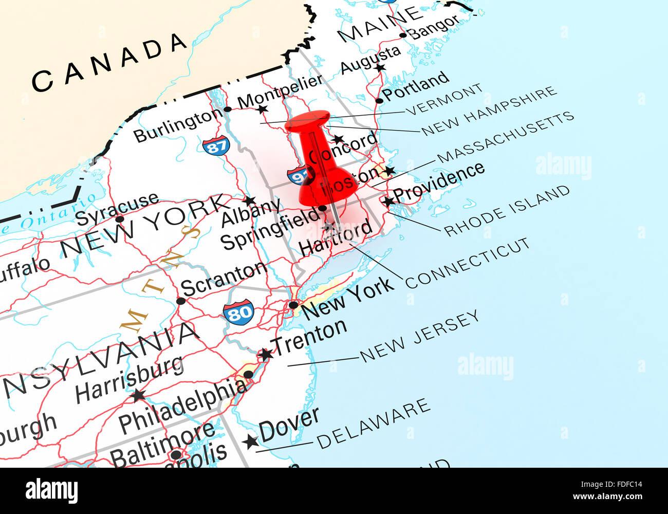 Connecticut Map Stock Photos & Connecticut Map Stock Images - Alamy